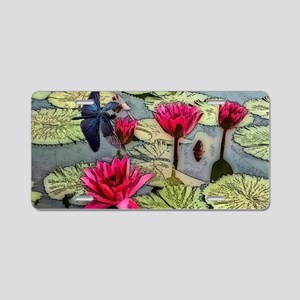 Dragonfly Pond Aluminum License Plate