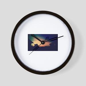 Shark Fin Sunset Wall Clock