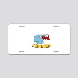 Train Engineer Aluminum License Plate