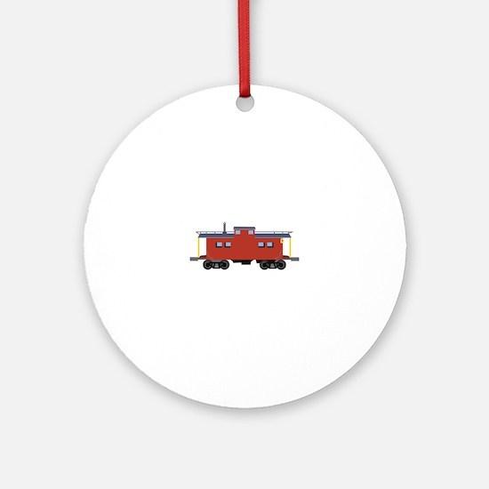 Caboose Round Ornament
