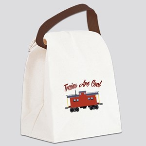 Trains Are Cool Canvas Lunch Bag