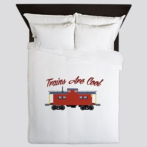 Trains Are Cool Queen Duvet
