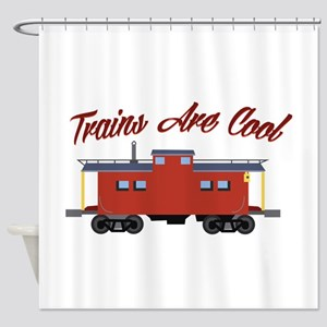 Trains Are Cool Shower Curtain