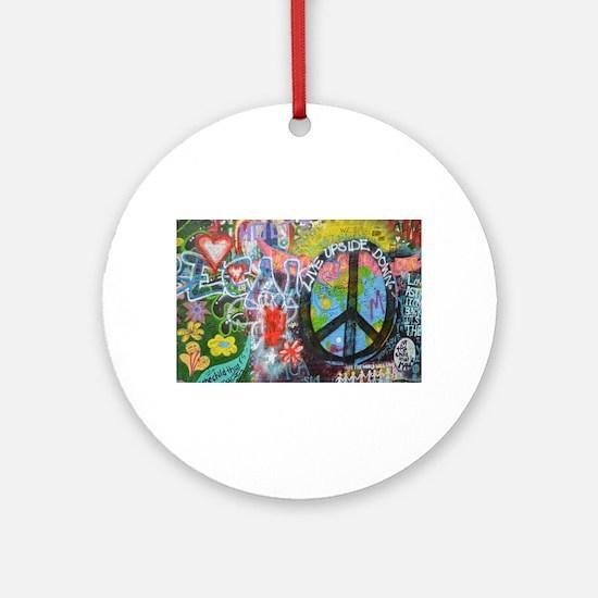 Cute Graffiti art Round Ornament