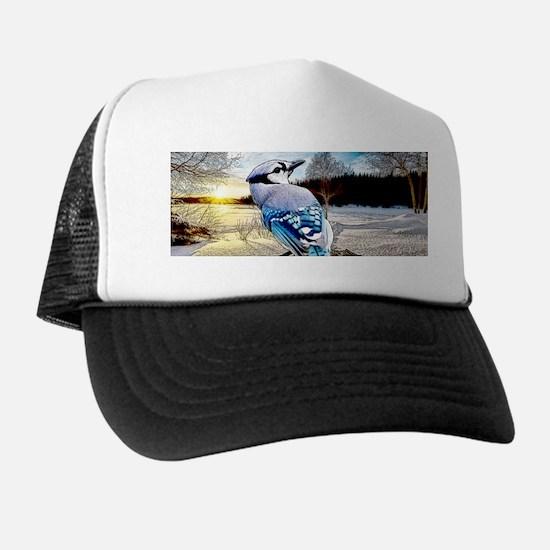 Blue Jay Sunrise Trucker Hat