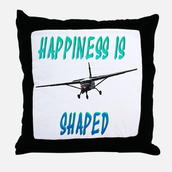 Hapiness is a Caravan Throw Pillow