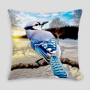 Blue Jay Sunrise Everyday Pillow