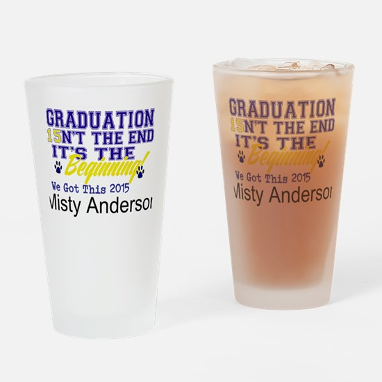 Seniors 2015 Personalize Drinking Glass