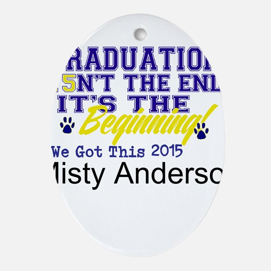 Seniors 2015 Personalize Oval Ornament