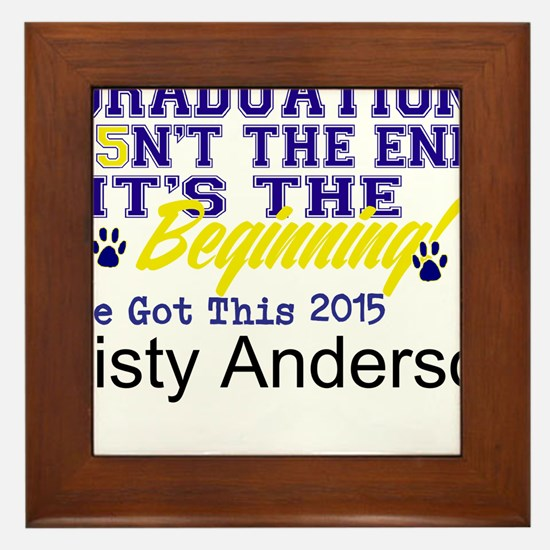 Seniors 2015 Personalize Framed Tile