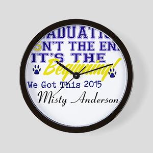 Seniors 2015 Personalize Wall Clock