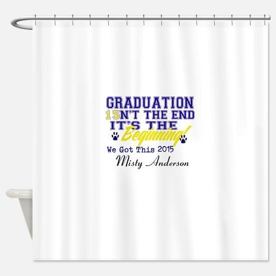 Seniors 2015 Personalize Shower Curtain