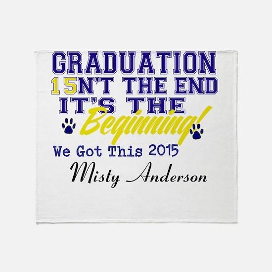 Seniors 2015 Personalize Throw Blanket
