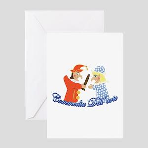 Commedia Dellarte Greeting Cards