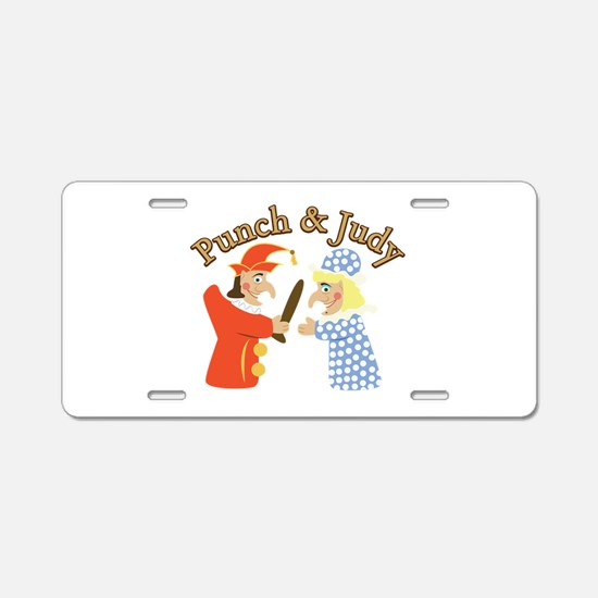 Punch & Judy Aluminum License Plate