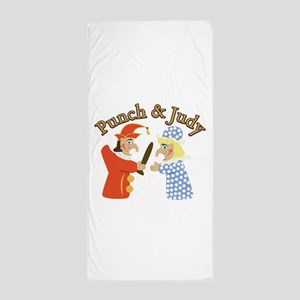 Punch & Judy Beach Towel