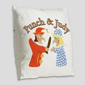 Punch & Judy Burlap Throw Pillow