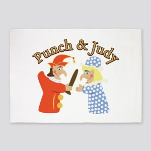 Punch & Judy 5'x7'Area Rug