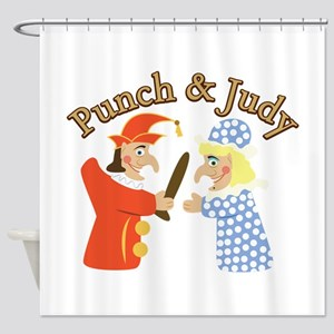 Punch & Judy Shower Curtain