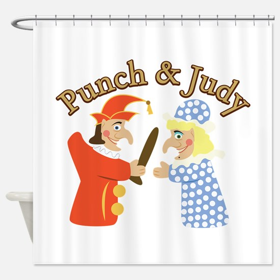 Punch & Judy Shower Curtain
