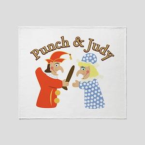 Punch & Judy Throw Blanket
