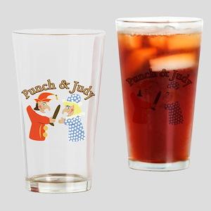Punch & Judy Drinking Glass