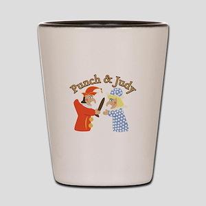 Punch & Judy Shot Glass
