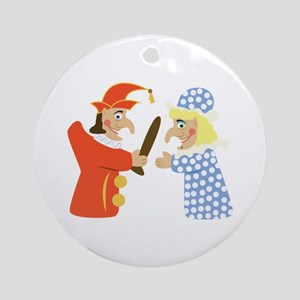 Punch & Judy Round Ornament