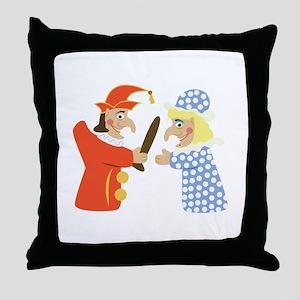 Punch & Judy Throw Pillow
