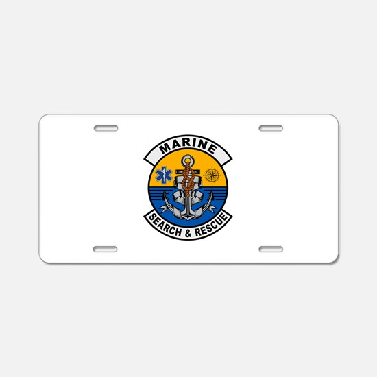 Marine Search and Rescue Aluminum License Plate
