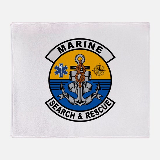 Marine Search and Rescue Throw Blanket
