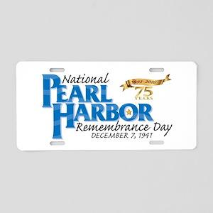 75 years: Pearl Harbor Aluminum License Plate