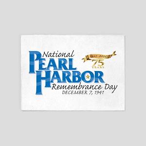 75 years: Pearl Harbor 5'x7'Area Rug