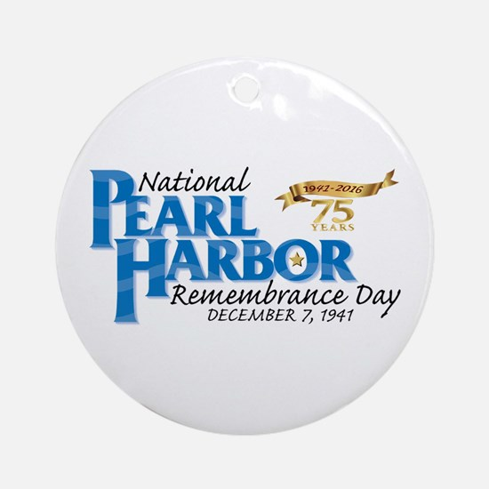 75 Years: Pearl Harbor Round Ornament