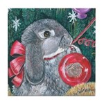 Rabbit Christmas Tile Coaster