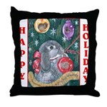 Rabbit Christmas Throw Pillow