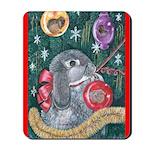 Rabbit Christmas Mousepad