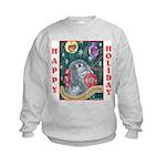 Rabbit Christmas Kids Sweatshirt