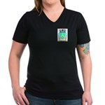 Oudineau Women's V-Neck Dark T-Shirt