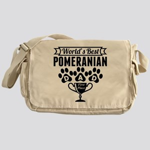 World's Best Pomeranian Dad Messenger Bag
