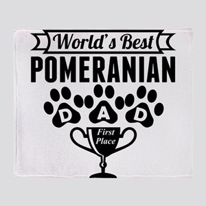 World's Best Pomeranian Dad Throw Blanket