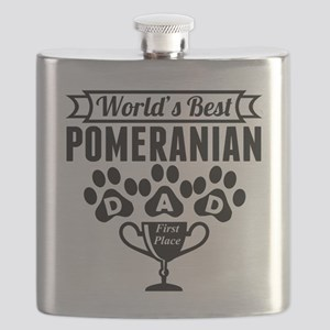 World's Best Pomeranian Dad Flask