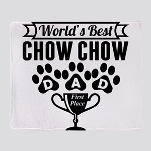 World's Best Chow Chow Dad Throw Blanket