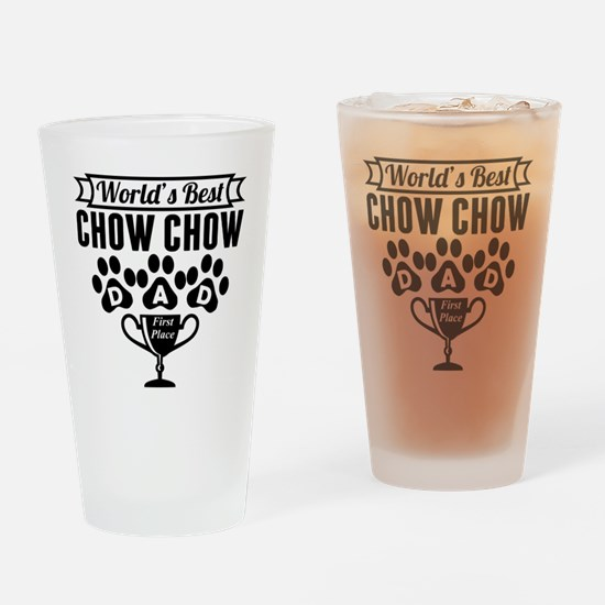 World's Best Chow Chow Dad Drinking Glass