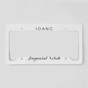 Club Logo License Plate Holder