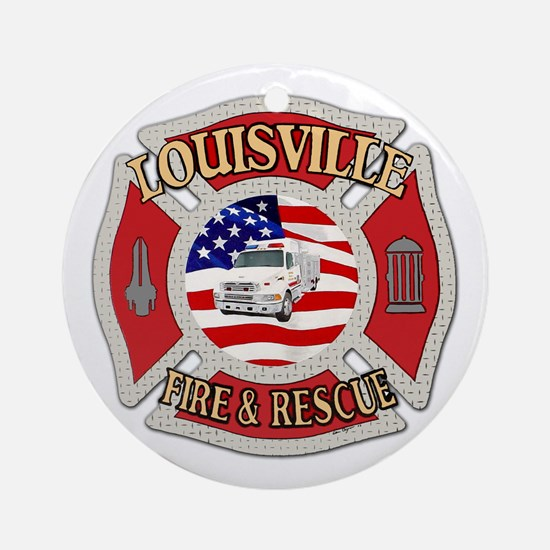 Louisville VFD Ornament (Round)