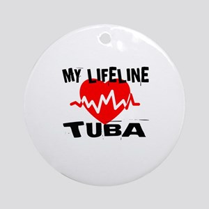 My Lifeline tuba Music Round Ornament