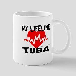 My Lifeline tuba Music 11 oz Ceramic Mug