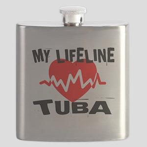 My Lifeline tuba Music Flask