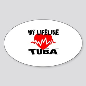 My Lifeline tuba Music Sticker (Oval)